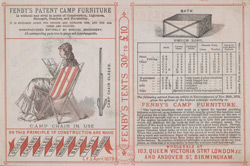 Advert For Fenby's Camp Furniture reverse(014EVA000000000U06159V00)